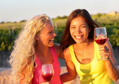 Happy Girls on the wine tour
