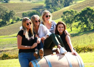 Girls having fun on the best Hunter Valley Wine Tour