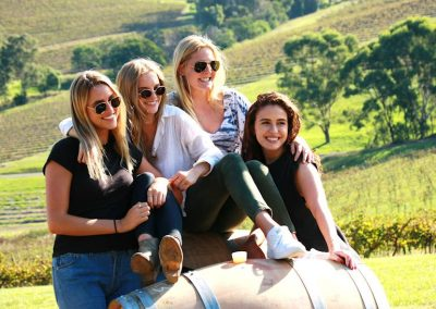 Hunter Wine Tour Girls on Barrells